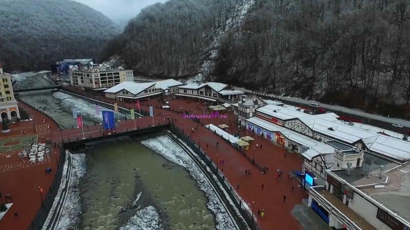 Сочи, Адлер, Красная Поляна, Роза Хутор (Sochi 2016) с квадрокоптера-0-02-07-780