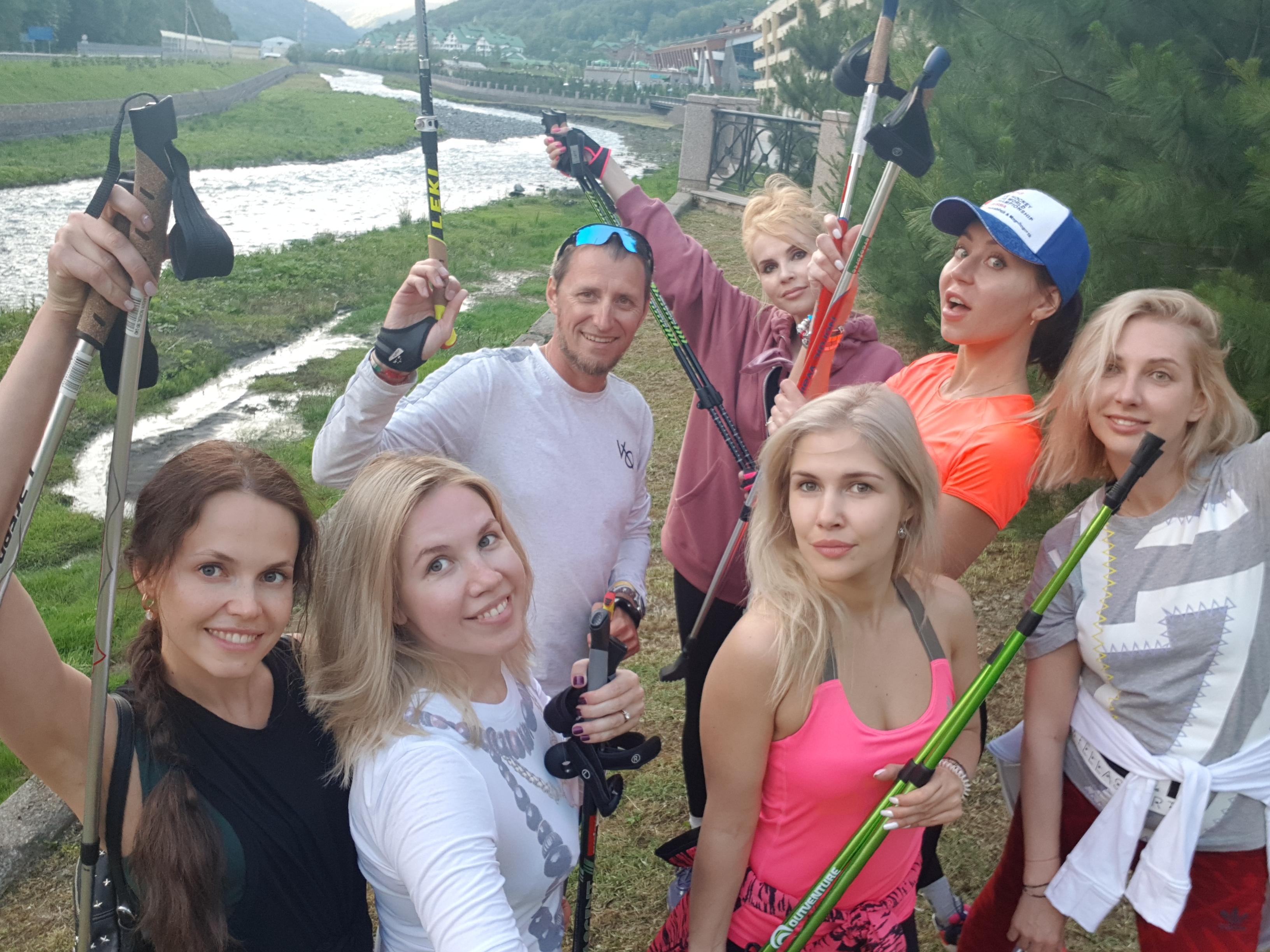 Скандинавская ходьба в Красной поляне Сочи
